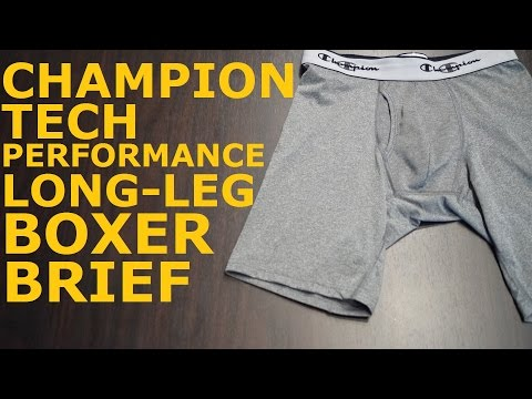 Champion Men's Tech Performance Long Leg Boxer Brief