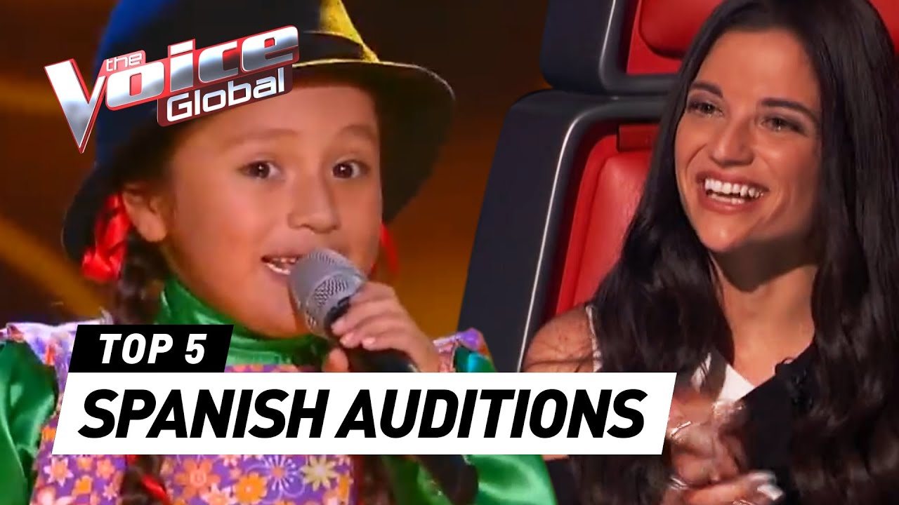 CUTE ???? SPANISH AUDITIONS in The Voice Kids