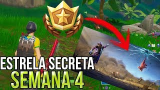 FORTNITE SEASON 10 SECRET WEEK 4 STAR (SECRET BATTLE STAR LOCATION)