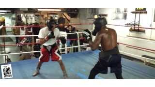 """Undefeated Boxer Tay """"Trouble Man"""" Jones Training To """"Counting All My Blessings"""" by Poka"""