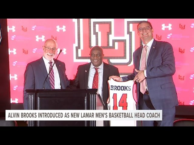Lamar introduces Alvin Brooks as new men's basketball head coach