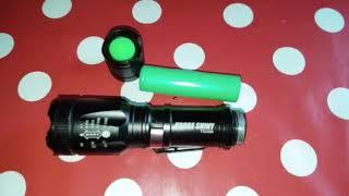 LED China Taschenlampe mit Zoom