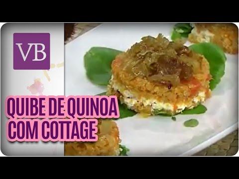 Quibe de Quinoa com cenoura e recheio de cottage e cebolas caramelizadas - Você Bonita (06/06/16)
