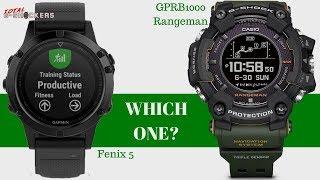 Which One Is Better? Garmin Fenix 5 vs G-SHOCK Rangeman Comparison