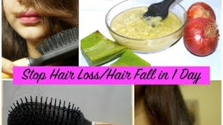 Stop Hair Loss | Hair Fall in 1 Day - Secret Hair Mask + 4 Effective Tips to Control  Hair Fall