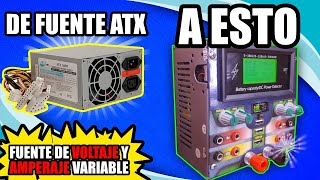 ❗CONVERTIR una fuente de alimentación ATX voltage y amperaje regulable, tester usb y de watts