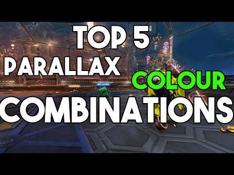 TOP 5 PARALLAX COLOUR COMBINATIONS! | Rocket League Parallax Color Combinations PS4, PC, Xbox One