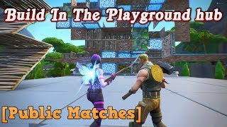 How to Build in Playground Hub | Fortnite annoying glitch
