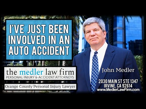 I've Just Been Involved In An Auto Accident - What Do I Do?