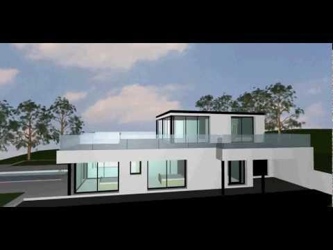 Maison moderne très vitrée - YouTube