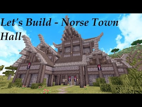 Minecraft Tutorial - Nordic Town Hall