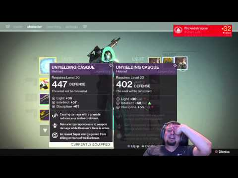 Reaction to getting EIGHTH HELMET from Crota's End @Bungie