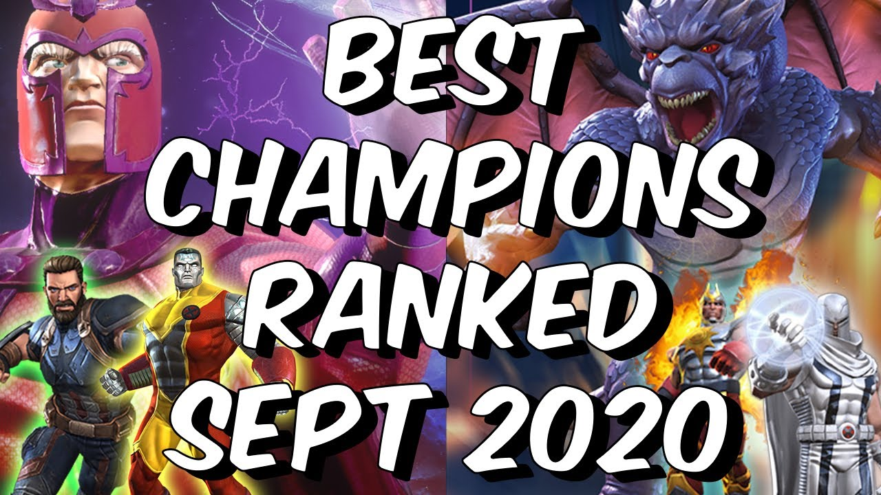 Best Champions Ranked September 2020 Seatin S Tier List Marvel Contest Of Champions Youtube