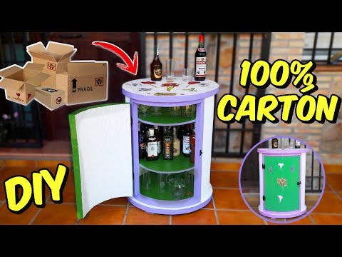Awesome DIY Round Cabinet You Can Made with Cardboard Boxes Crafts