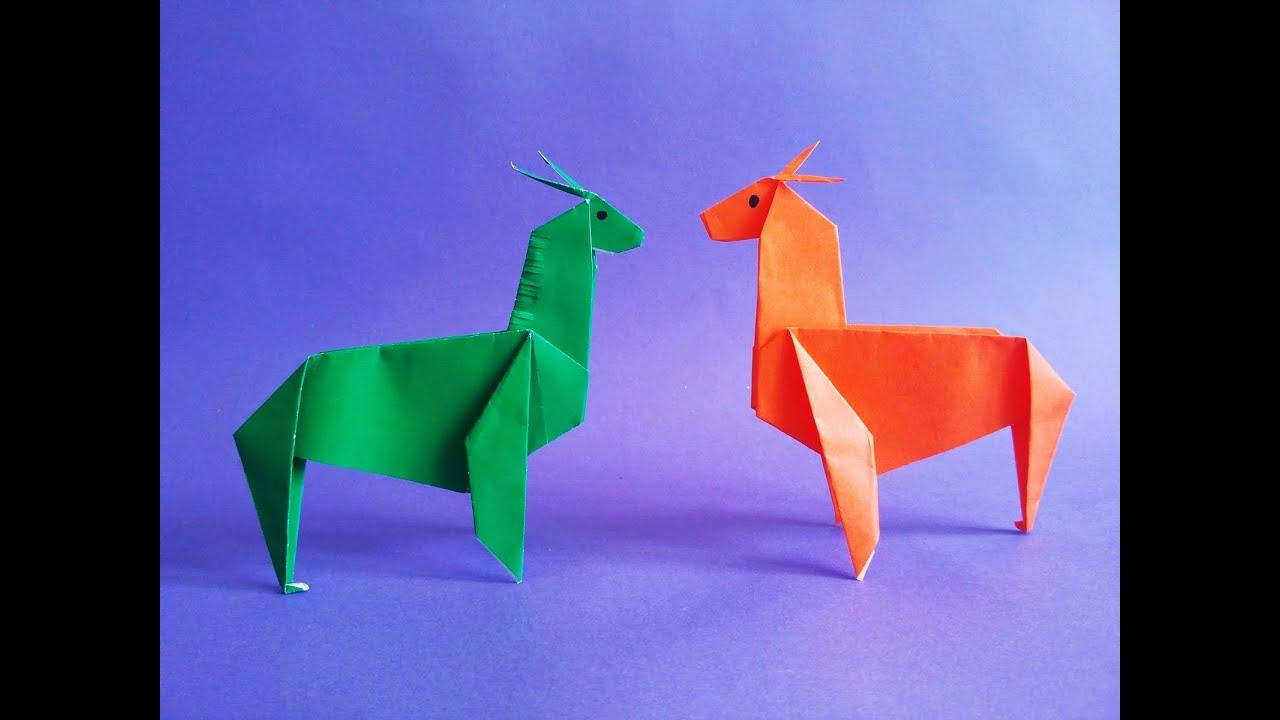 How To Make Paper Origami Alpaca Youtube
