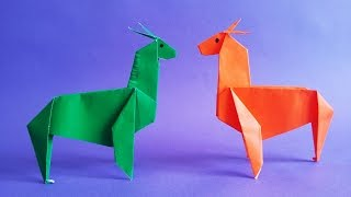 알파카 종이접기 How to Make Paper Origami Alpaca