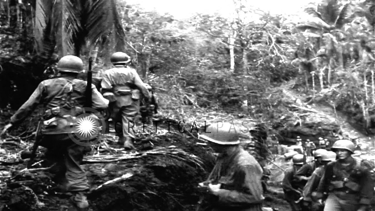 187th Glider Infantry soldiers in Sulac, Philippines ...