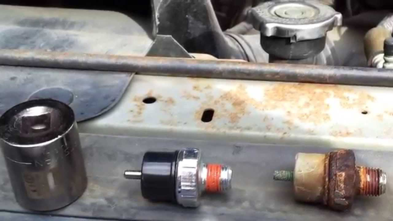 Watch on oil pressure sender location