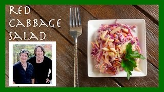 "Red Cabbage Salad with a ""Rugged Garlic"" Dressing"