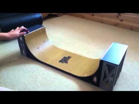 Tech Deck Tricks On A Half Pipe