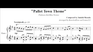 Pokémon Red/Blue - Pallet Town (Piano Sheet Music)
