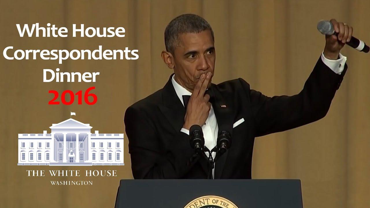 president obama white house correspondents dinner 2016 | obama out