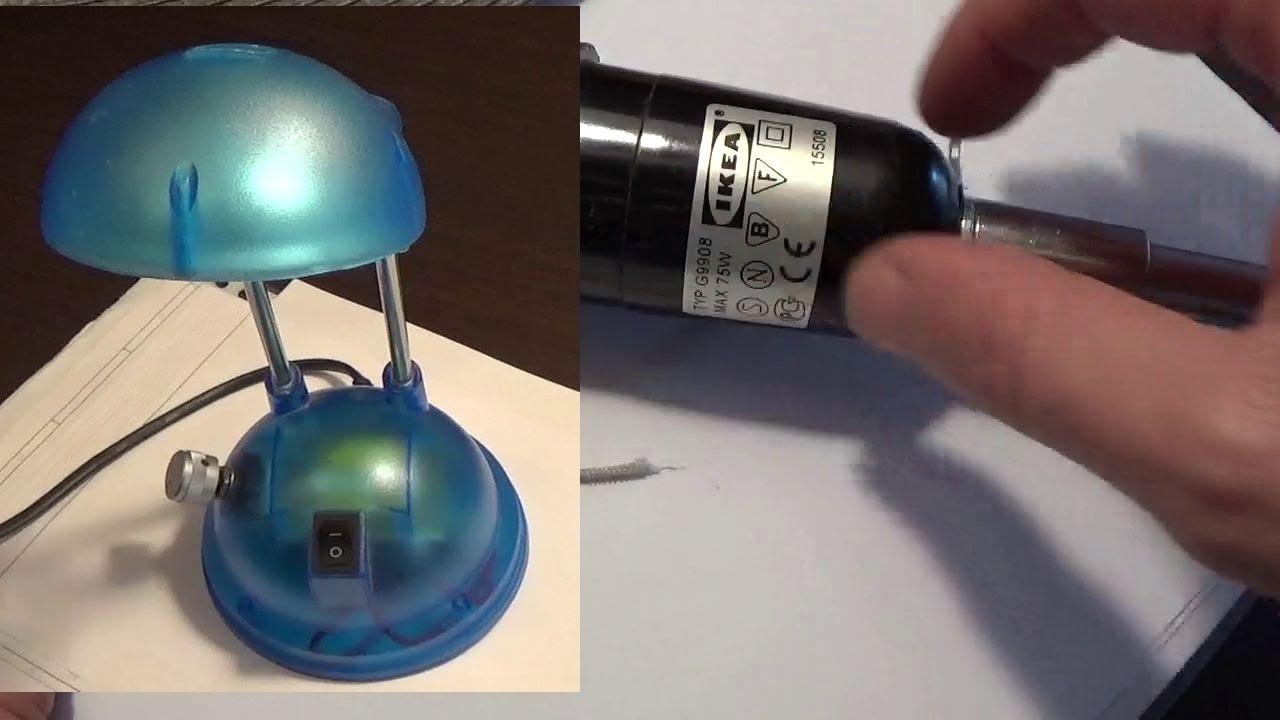 Pieraisa 222 riparazione e modifica due lampade ikea - Portalampada ikea ...