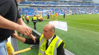 Brighton Stewards assault young Wednesday fan.
