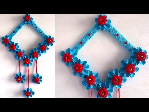 DIY Easy Paper Flower Wall Hanging !!! DIY ROOM DECOR 2019 || DIY Projects