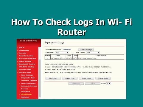 How To Check Logs In Wi-Fi Router