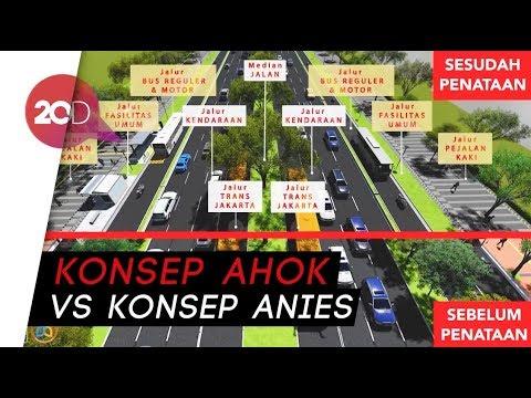 Pilih Mana, Penataan Sudirman-Thamrin ala Ahok atau Anies?