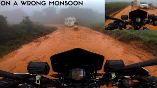 On A Wrong Monsoon - Chikmagalur To Bababudangiri| Worst Roads| Duke 250|Enowaytion Plus | Tamil