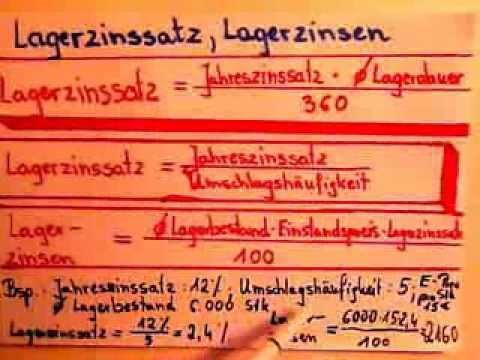 Lagerkennzahlen berechnen