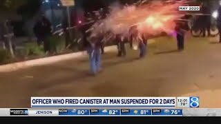 Officer who fired flashbang at man suspended 2 days without pay