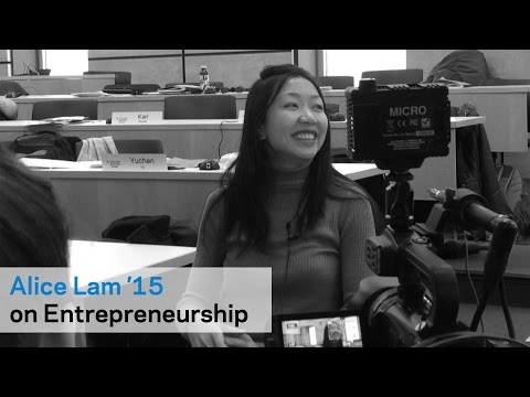 Alice Lam '15 on Columbia's Entrepreneurial Community