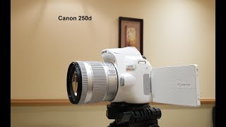 مراجعه أفضل وأحدث كاميرا لليوتيوب كانون 250d / كانون 250دي Review canon Eos Sl3