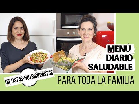 MENÚ DIARIO SALUDABLE PARA TODA LA FAMILIA | Dieta equilibrada y sana