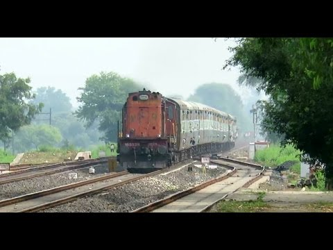 Why So Angry ?? Mad Honking KTE WDM3A with Rewa - Jabalpur Intercity Hammers Deori : INDIAN RAILWAYS