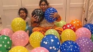 Colorful Balloons Show and Learn Numbers and Colors