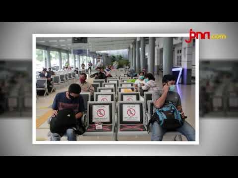 Penerapan Protokol Kesehatan 3M di Stasiun Pasar Senen