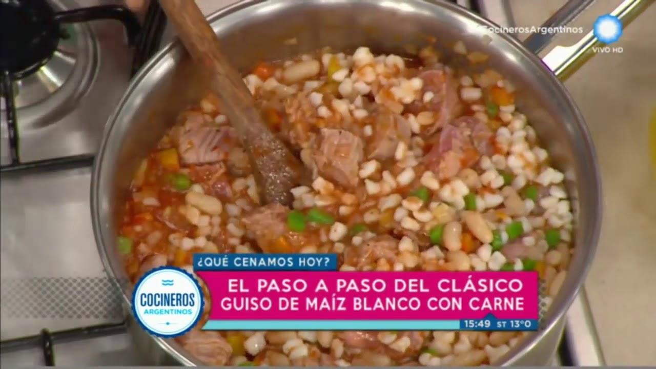 Guiso De Maíz Blanco Con Salsa Verde Picante Youtube