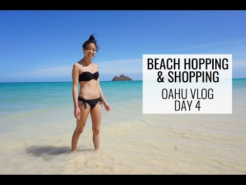 BEACH HOPPING & SHOPPING | OAHU VLOG DAY 4 | October 24, 2017