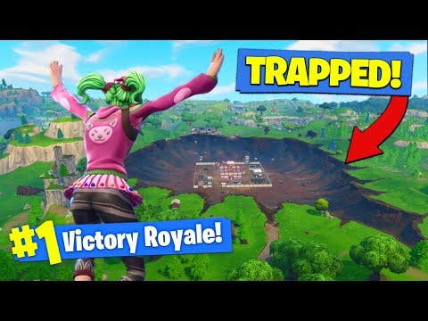 Winning The CRATER CHALLENGE In Fortnite Battle Royale!