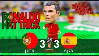 LEGO World Cup 2018 PORTUGAL Vs SPAIN - RONALDO HAT TRICK