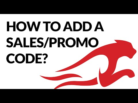 How To Create A Sales & Promo Code