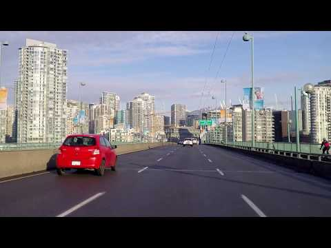 Downtown Vancouver BC Canada - Driving Tour in City Centre