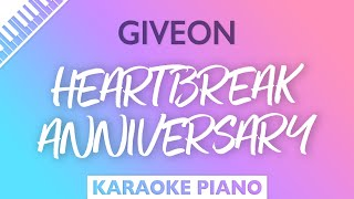 Giveon - HEARTBREAK ANNIVERSARY (Karaoke Piano)