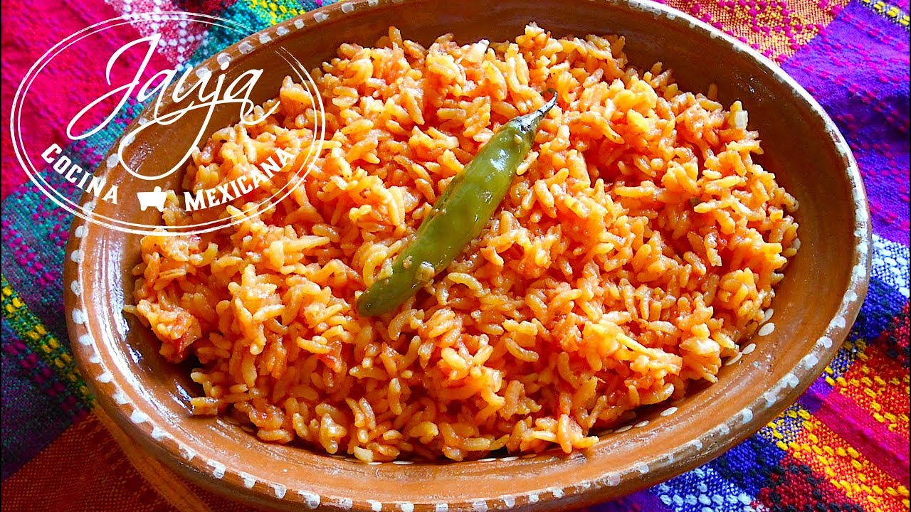 Arroz Rojo Mexicano  YouTube