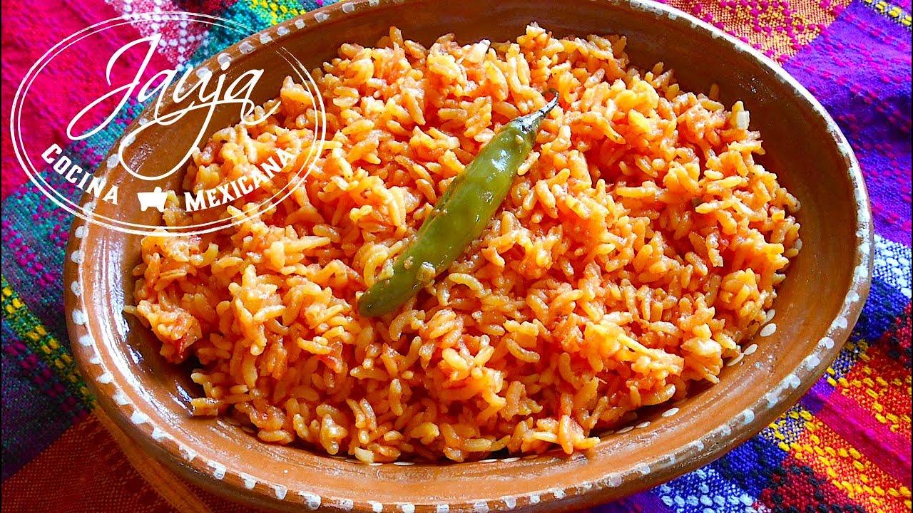 Arroz rojo mexicano youtube for Resetas para cocinar