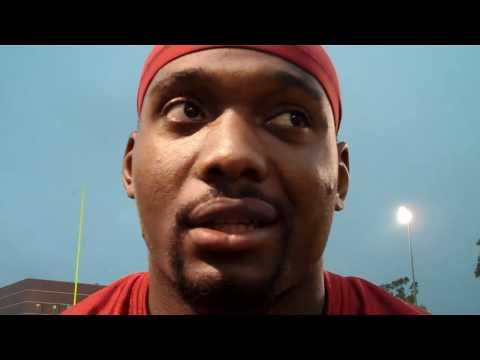 ESPNLosAngeles.com: USC running back Allen Bradford talks after Thursday